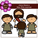 Jesus Heals A Man With Leprosy Digital Clipart (color and