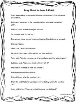 Jesus Heals A Woman, Luke 8:43-48