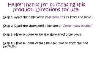 Bible for Kids Children Sunday School Homeschool Jesus Heals People