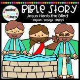Jesus Heals the Blind Clipart
