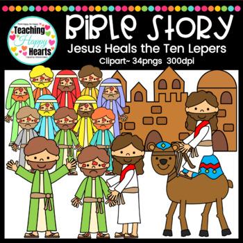 Jesus Heals the Ten Lepers Clipart