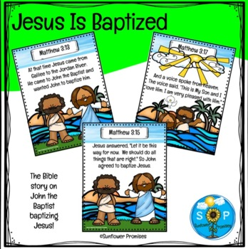 Jesus Is Baptized Scripture Set