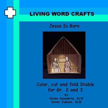 Jesus Is Born 3D Stable with figures for Grades 2 and 3