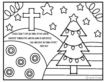 Jesus Christmas Coloring Worksheets Teaching Resources Tpt