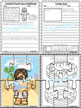 Jesus (Loaves & Fishes) Pop-Ups, 2-D, Writing & Puzzle Activities