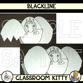 Unicorn in an Egg Template Activity