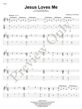 Jesus Loves Me - Guitar (Includes Full Performance mp3)