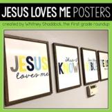 Jesus Loves Me Lyric Posters