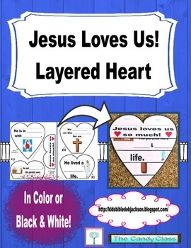 Jesus Loves Us! Layered Heart Freebie