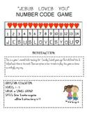 Jesus Loves You Number Code Game