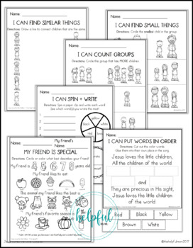 Jesus Loves the Little Children ♥ Grades K-1 ♥ Activity Pack