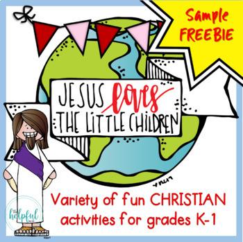 Jesus Loves the Little Children ♥ Sample FREEBIE ♥ Grades K-1
