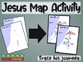 Jesus Map Activity: follow-along PPT & map handout tracking his ministry
