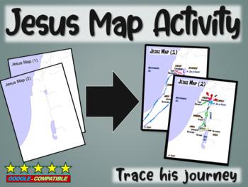 Jesus Map Activity: follow-along PPT & map handout trackin