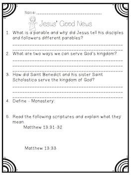 Jesus Our Lord and Savior Catholic Supplemental Unit