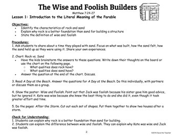 Jesus' Parable: The Wise and Foolish Builders: Standard Edition
