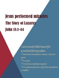 Jesus Performed Miracles: The Story of Lazarus
