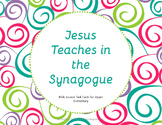 Jesus Teaches in the Synagogue-Bible Task Cards