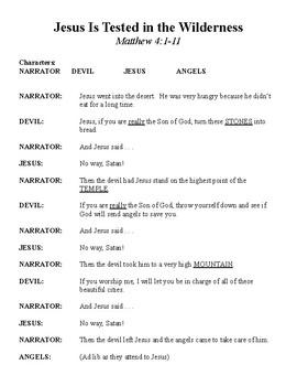 Jesus Tested (Tempted) in the Desert Skit Script