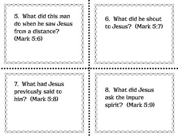 Jesus Transforms a Wild Man - Bible Task Cards for Upper Elementary