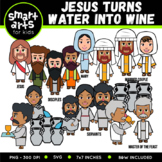 Jesus Turns Water into Wine Clip Art