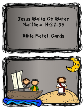 Jesus Walks On Water Bible Print and Go Pack