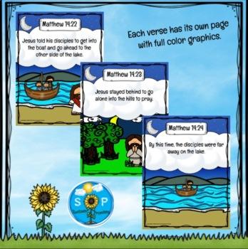 Jesus Walks On Water Scripture Cards