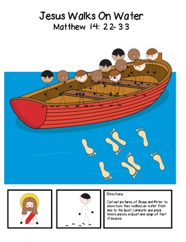 Jesus Walks on Water - Boat Scene Activity
