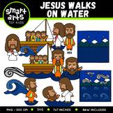 Jesus Walks on Water Clip Art