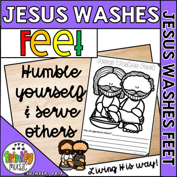 Coloring Page Jesus Washes Feet Of Disciples Royalty Free Cliparts ... | 350x350