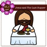 Jesus and The Last Supper Digital Clipart (color and black&white)