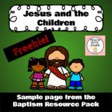 Jesus and the Children Worksheet Activity