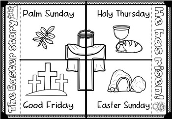 Easter ~ The Story of Jesus ~ Interactive Foldable Templates