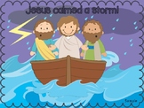 Jesus calms a storm Bible Story Craft