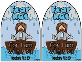Jesus calms a storm craft with Isaiah 41:10 Fear not for I