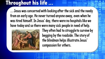 Jesus cares for the sick - (3 complete lessons)
