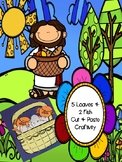 Jesus feeds the 5,000 craftivity - 5 loaves + 2 fish