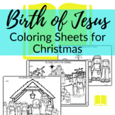 Jesus is Born Christmas Coloring Sheets for Sunday School