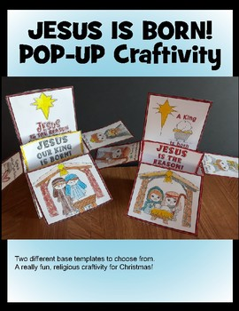 Christmas Crafts Jesus Is Born Pop Up Craftivity By Artsy Crafter