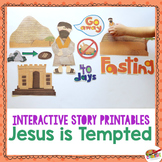 Jesus is Tempted {New Testament Interactive Bible Storytelling Printables}