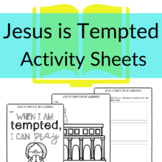 Jesus is Tempted Printable Activities for Sunday School  (