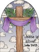 Jesus is alive Easter Craft with cross