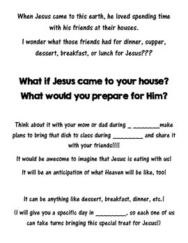 Jesus is coming to MY house!!!