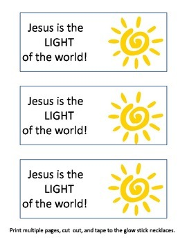 Jesus is the Light of the World Story of the Blind Man