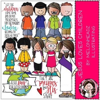 Jesus loves Children clip art - Melonheadz Illustrating