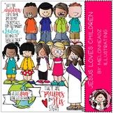 Jesus loves Children clip art - COMBO PACK - Melonheadz Illustrating