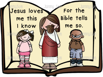 Jesus loves me this I know craft kit by JannySue | TpT