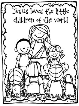 Jesus loves the little children craft and color sheet by ...
