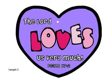 Jesus loves us heart craft