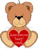 Jesus loves you beary much craft